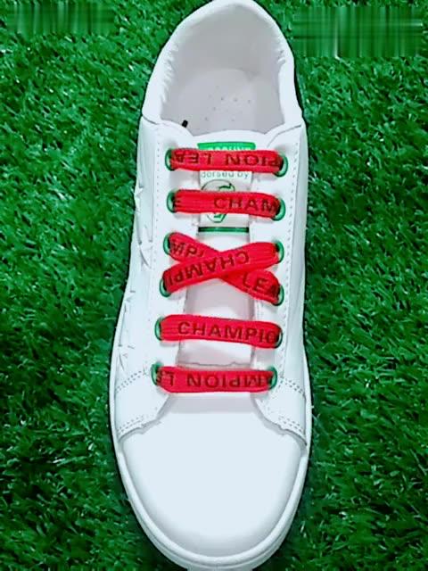 5孔鞋带的系法图解