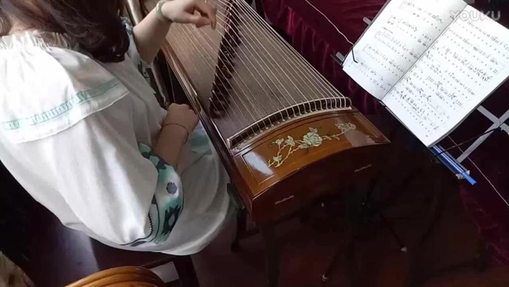 古筝八级曲《侗族舞曲》慢板教学视频