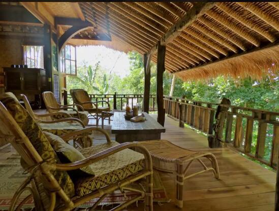 竹子房屋模型手工制作