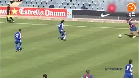 14岁的梅西就已经这么逆天了 同龄的球员根本防不住