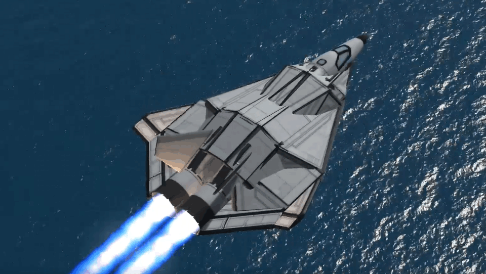 【坎巴拉太空计划】第六代战机翼身融合设计验证