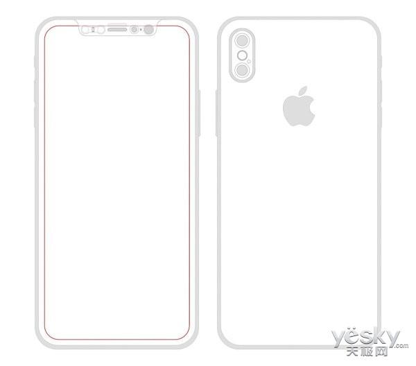 苹果iphone8最新设计图: 垂直双摄+全面屏