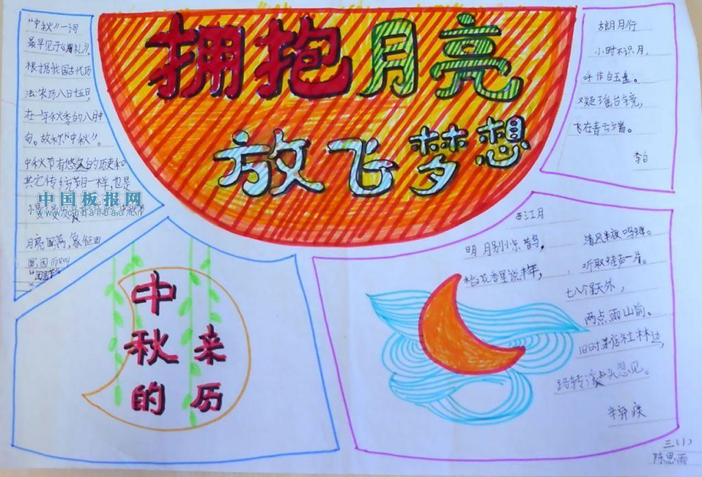 中秋节月亮手抄报图片大全, 关于月亮的手抄报图片