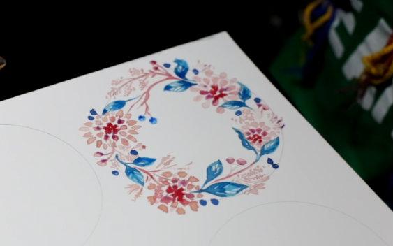 彩铅手绘花卉教程—美人蕉 2