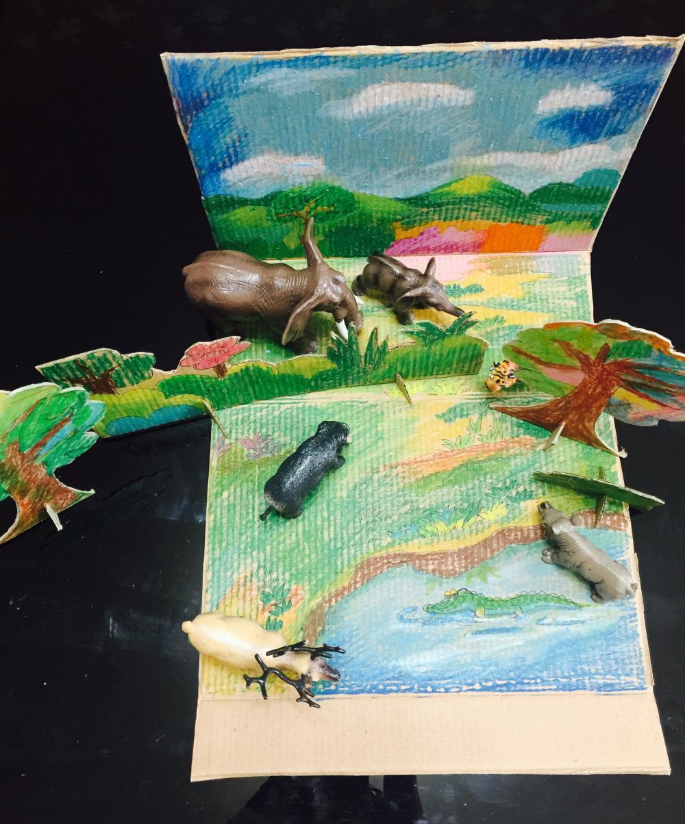 纸壳手工制作动物图片