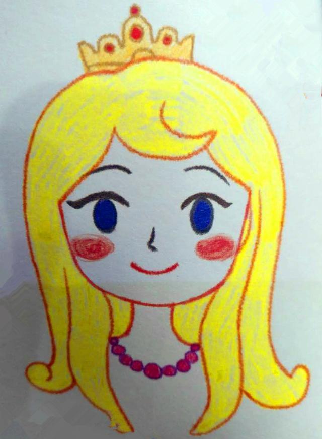 儿童画: 女儿喜欢的漂亮的公主画和公主裙