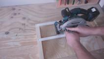 如何制作圆锯切割夹具,操作简单,木匠工看了都说很实用
