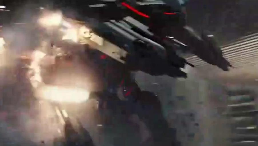 机械战警为铲除奸恶,独自面对超强火力巨形机器人