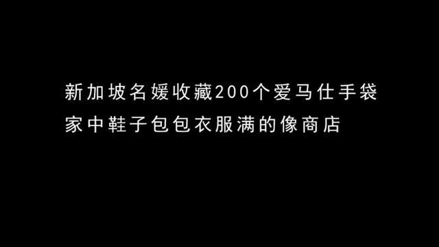 新加坡名媛收藏200个爱马仕手袋家中限量鞋子包包衣服满的像商店
