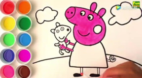 亲子画画学习: 画画小猪佩奇图片