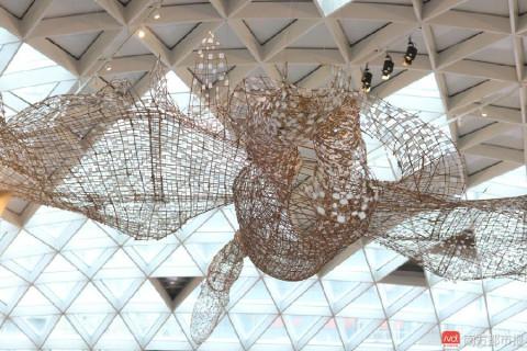 白鹭雕塑装置艺术