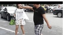 男子酒后装逼在大街上抢奥迪车殴打路人 引公愤被群殴