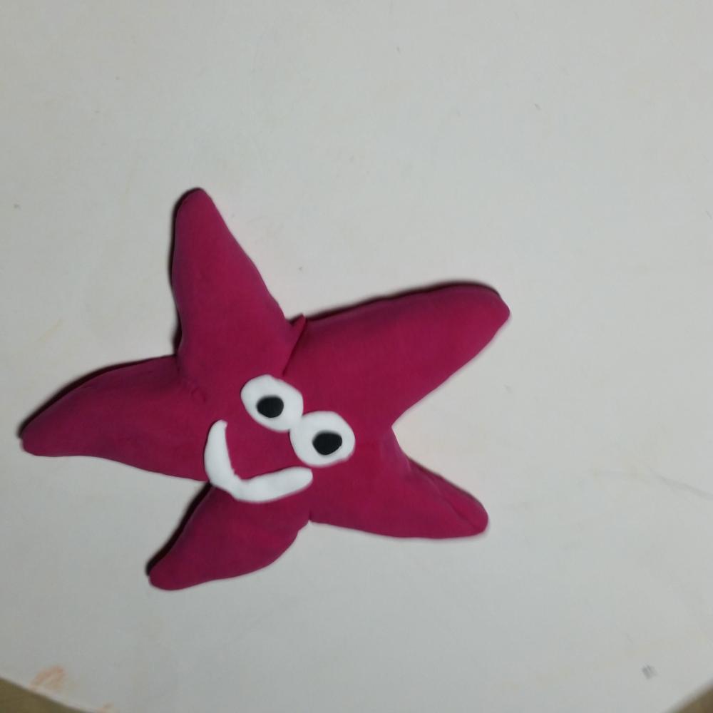 儿童彩泥海星亲子手工制作步骤图