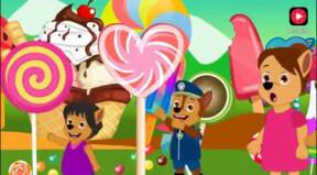 宝宝和爸爸去游乐园吃巨型棒棒糖图片