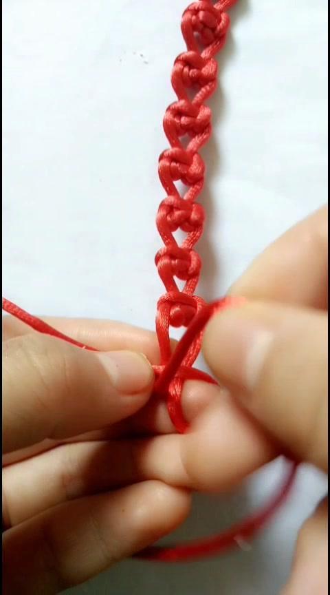 攀缘结的方向性 手工编绳视频教程【金金说】 打开 心形攀缘结编法