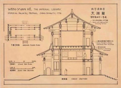 梁思成手绘的中国建筑, 让你只看一张图, 就能得到很多知识