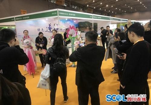 遂宁旅游亮相第六届成都国际旅游展展台动静结合圈粉外国友人
