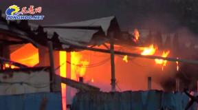 疑似电路老化引发火灾 南京一活动板房六间宿舍被烧毁
