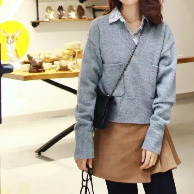 身材娇小不好搭衣? 快来围观时尚博主们是如何在冬季用毛衣凹造型的吧! 12