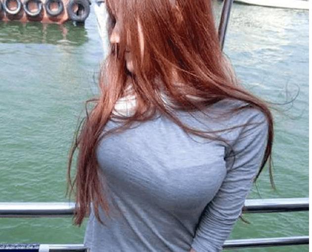 小姐姐灰色紧身上衣, 看着让人特别喜欢 3