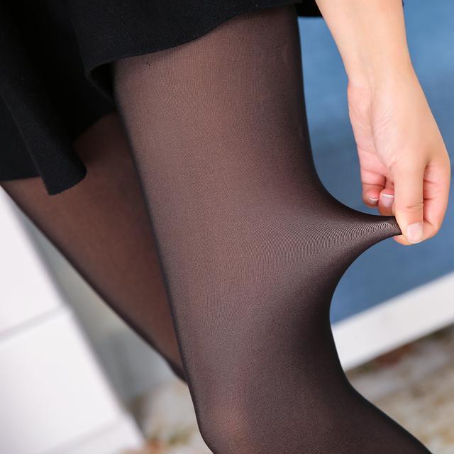 今年超流行假肉打底裤, 保暖又时髦, 村里的姑 1
