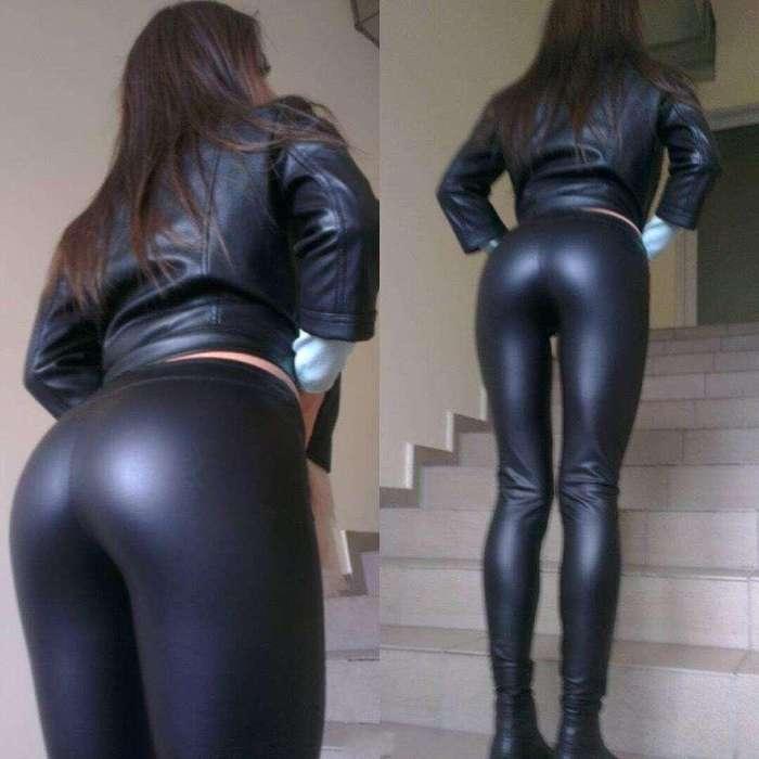 皮裤+皮衣的搭配是完美的, 亲肤舒适, 风再大也不怕冷哦 1