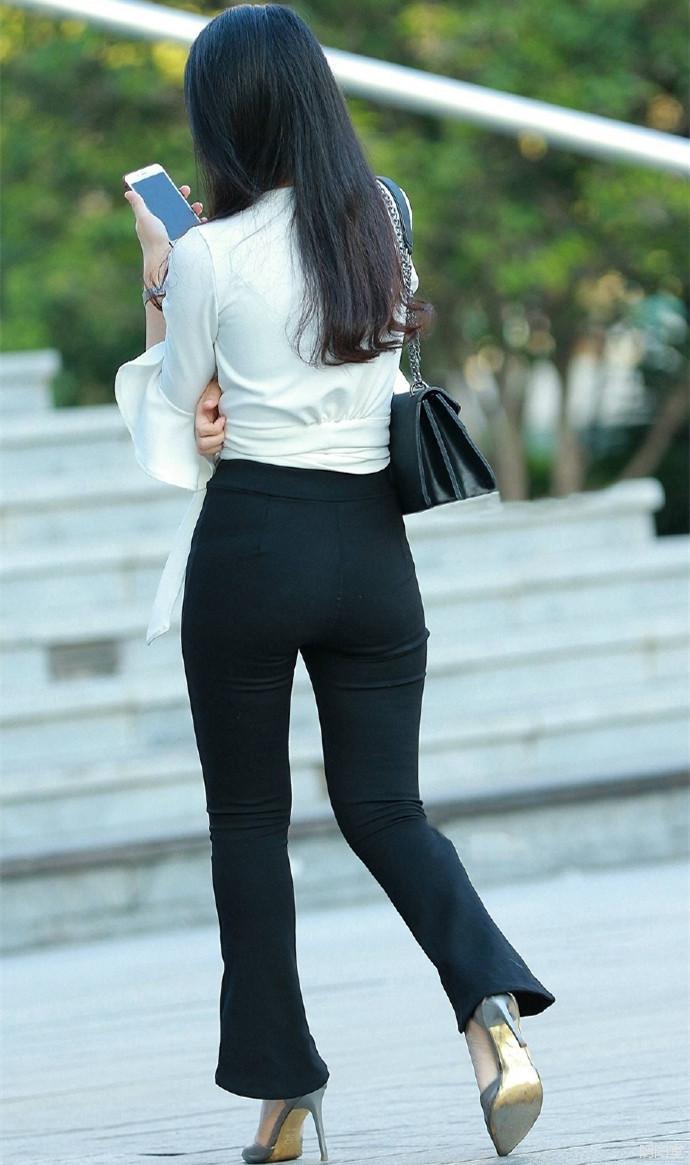 紧身裤职业装, 时尚的女秘书更容易得到老板的青睐 7