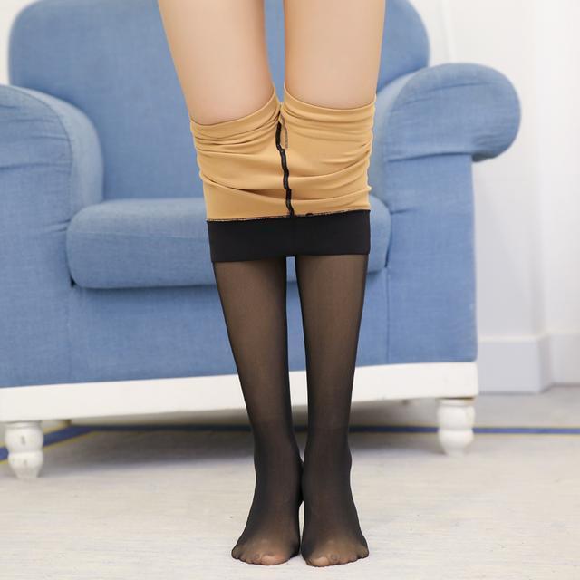 今年超流行假肉打底裤, 保暖又时髦, 村里的姑 5