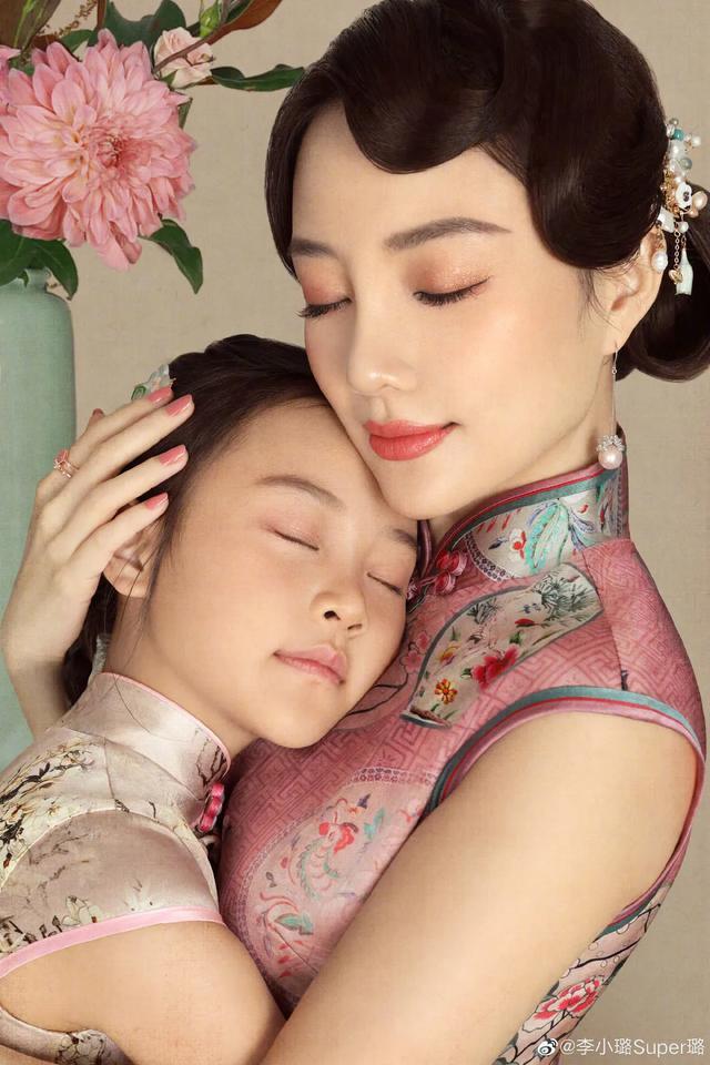 李小璐為女兒慶生, 母女拍古風寫真, 8歲甜馨出落大方淑女范十足-圖2