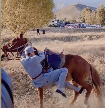 於震拍戲不慎落馬, 腰都摔腫瞭, 受傷成常態曾被割破手血流不止-圖2