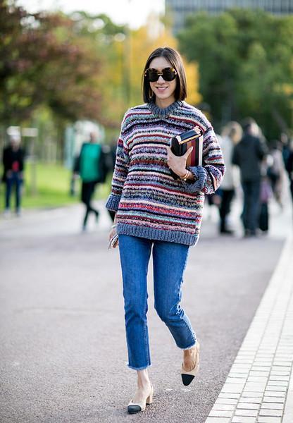毛衣+长裤, 这是冬季的五个时髦搭配公式 2