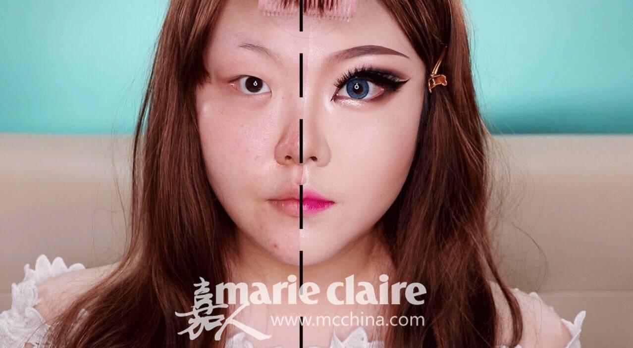 换脸如同换日抛! 扒一扒女孩子的化妆套路有多深! 17