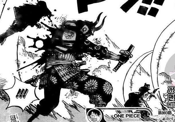 《海賊王》993話, 凱多隨意一擊斬斷小菊手臂, 最強生物恐怖如斯-圖7
