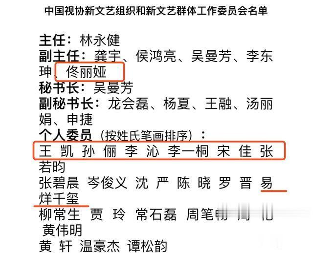 首批中視協雙新委員會名單: 譚松韻千璽當選, 但沒佟麗婭級別高-圖2