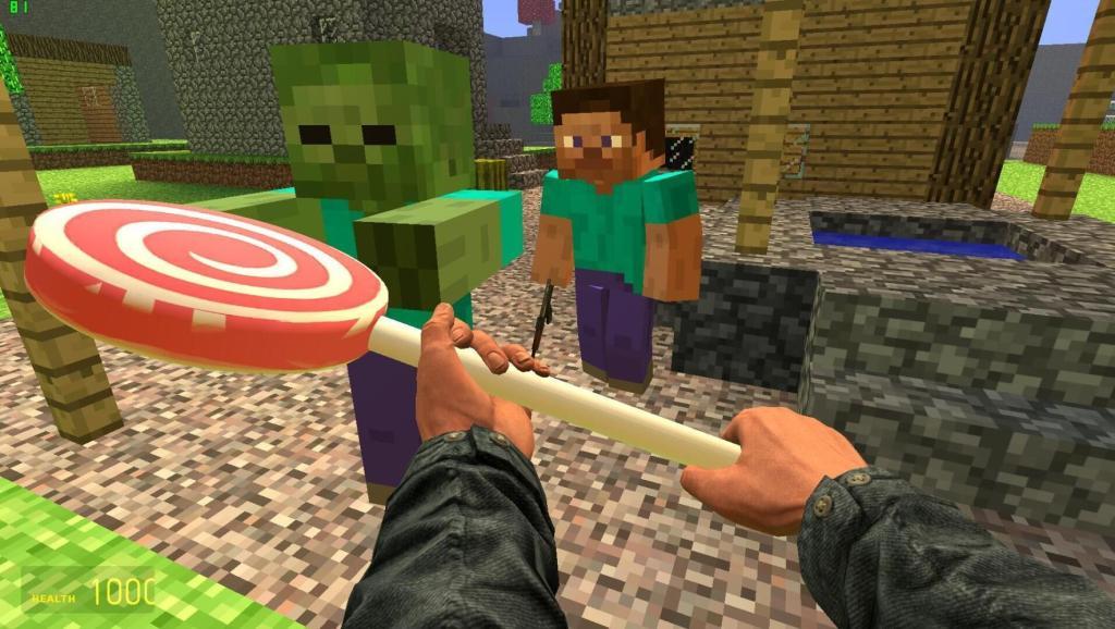 我的世界史蒂夫为什么要把棒棒糖丢给僵尸