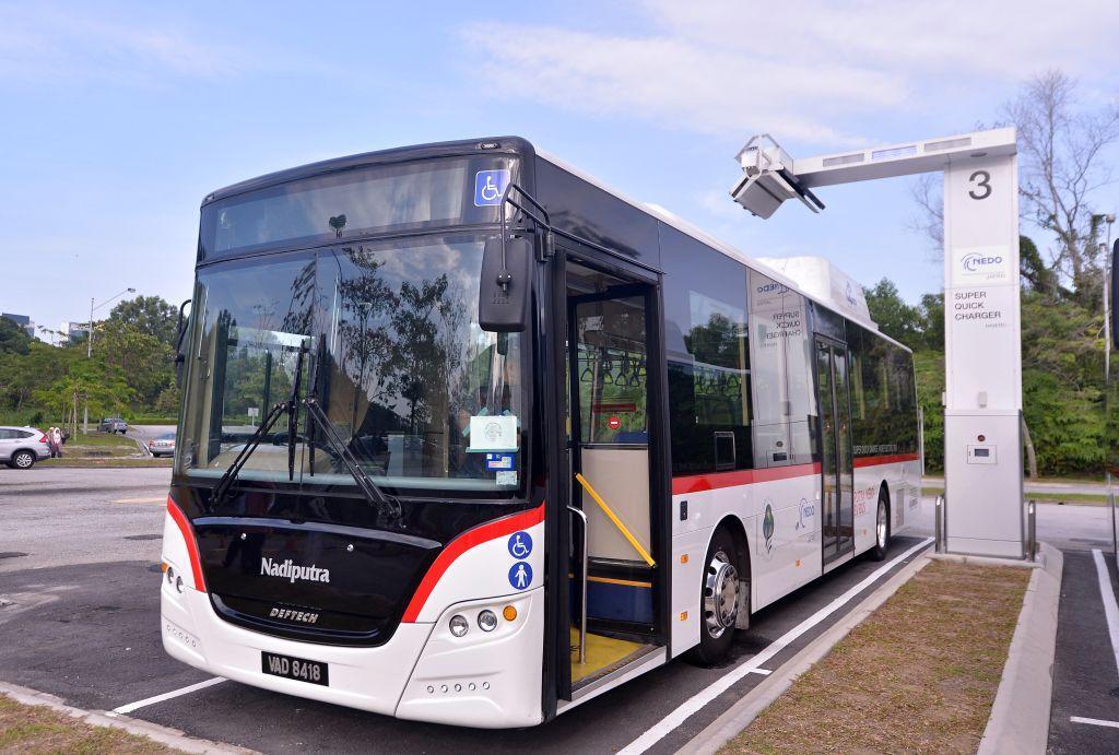 马来西亚电动公共汽车10分钟内充满电 , 但电池技术是从日本进口