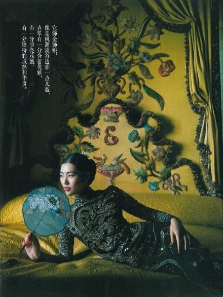 大表姐刘雯中国风时尚大片美炸了, 气质如兰宛若画中人 2