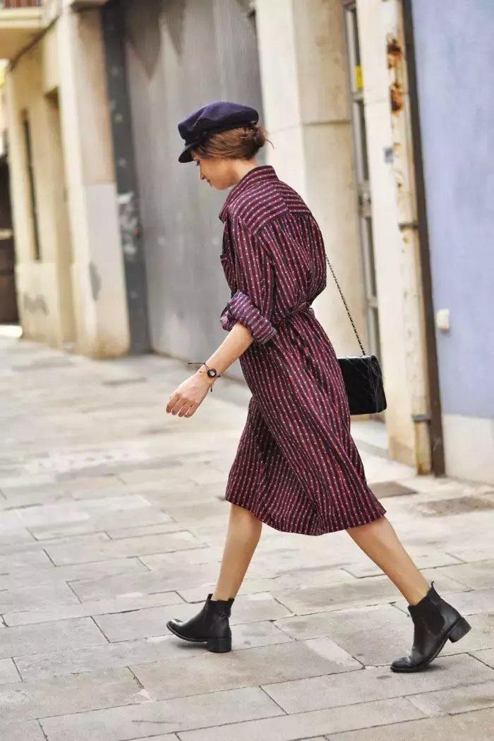 裙子+短靴才是初秋最时髦搭配! 11