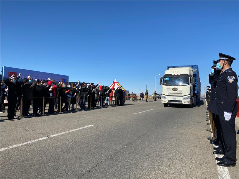 中蒙舉行蒙古向中國捐贈羊交接儀式-圖3