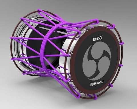 日本传统乐器制造商罗兰发布全球首款电子太鼓