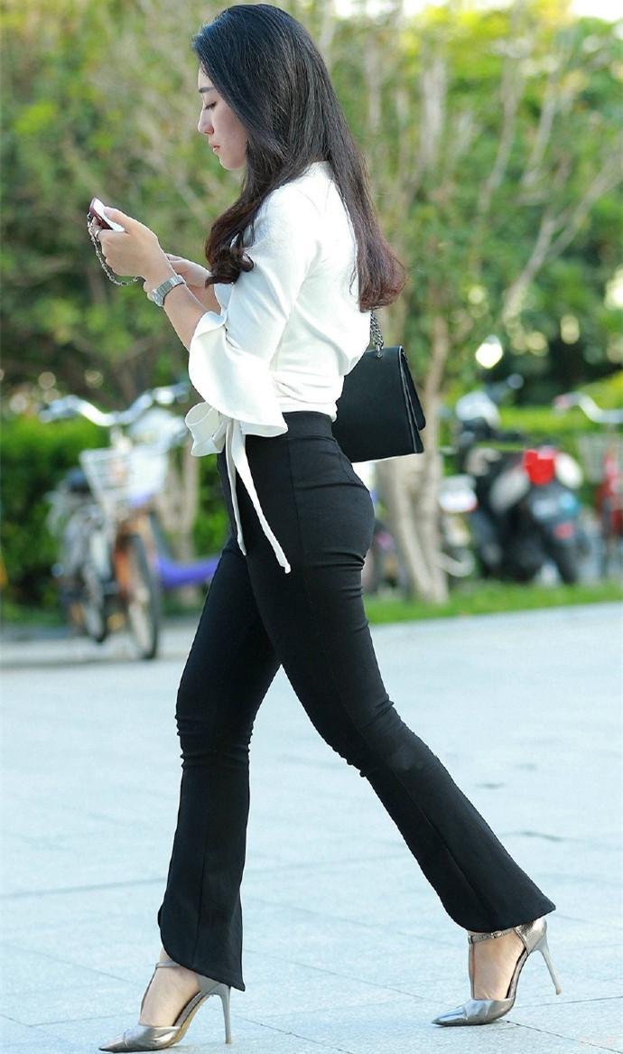 紧身裤职业装, 时尚的女秘书更容易得到老板的青睐 2