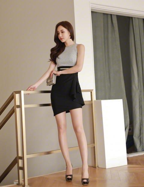 职业短裙被女神这么穿搭, 高端优雅而不是妖艳 8