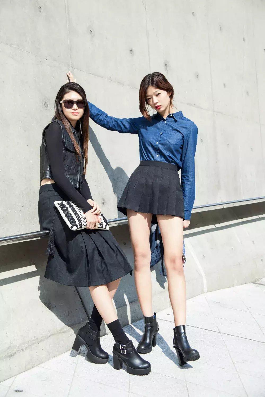 裙子+短靴才是初秋最时髦搭配! 2