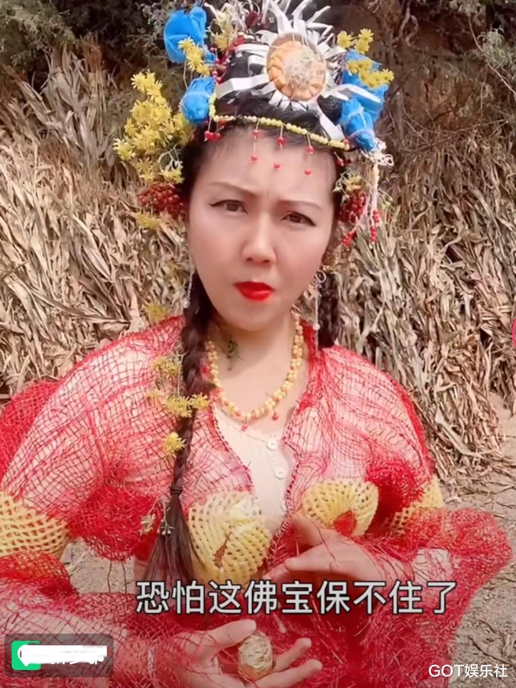 農村女孩自導自演《西遊記》, 道具神還原, 演技比很多明星都好-圖10