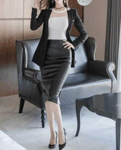 如果办公室的女同事都这么穿, 我觉得加班还是挺幸福的 4