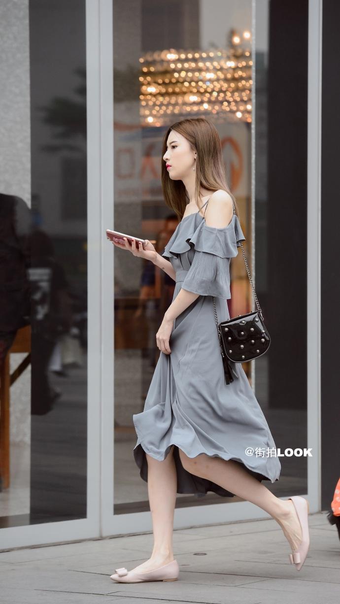 街拍时尚秀: 成都路人街拍, 美若天仙的小姐姐, 气质最重要 4