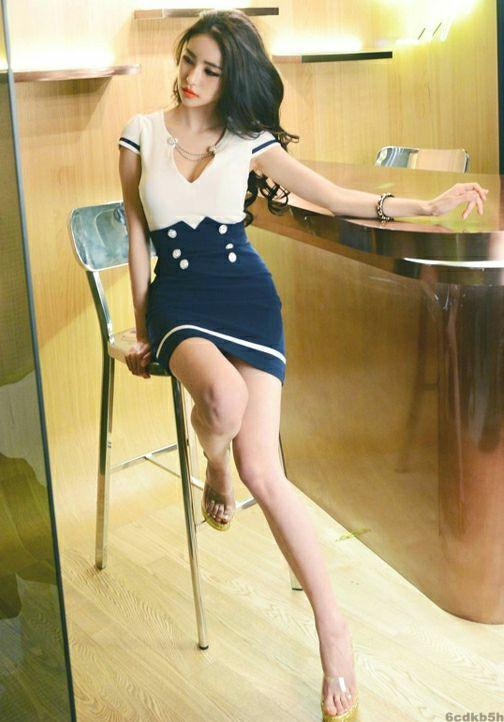 气质美女搭配短裙, 魅力时尚 3