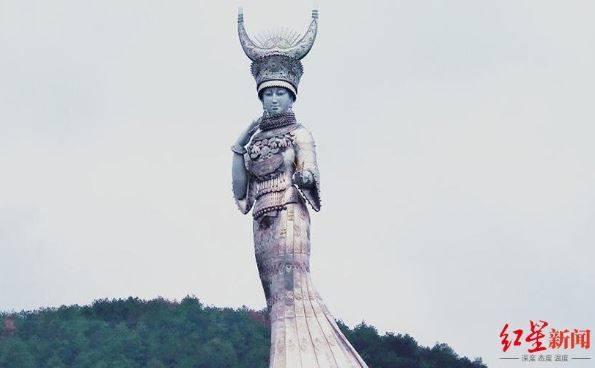 貴州一貧困縣被指斥巨資建88米苗族女神雕塑, 當地回應-圖1