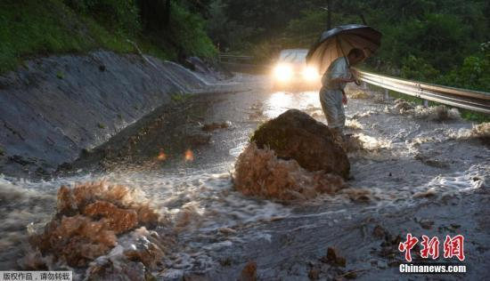 强台风令日本九州暴雨成灾 多人失联40万人避难