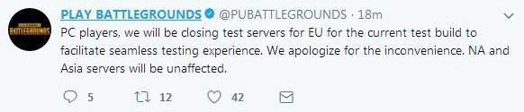 绝地求生暂闭欧服测试无缝体验内容 难道测试新地图?